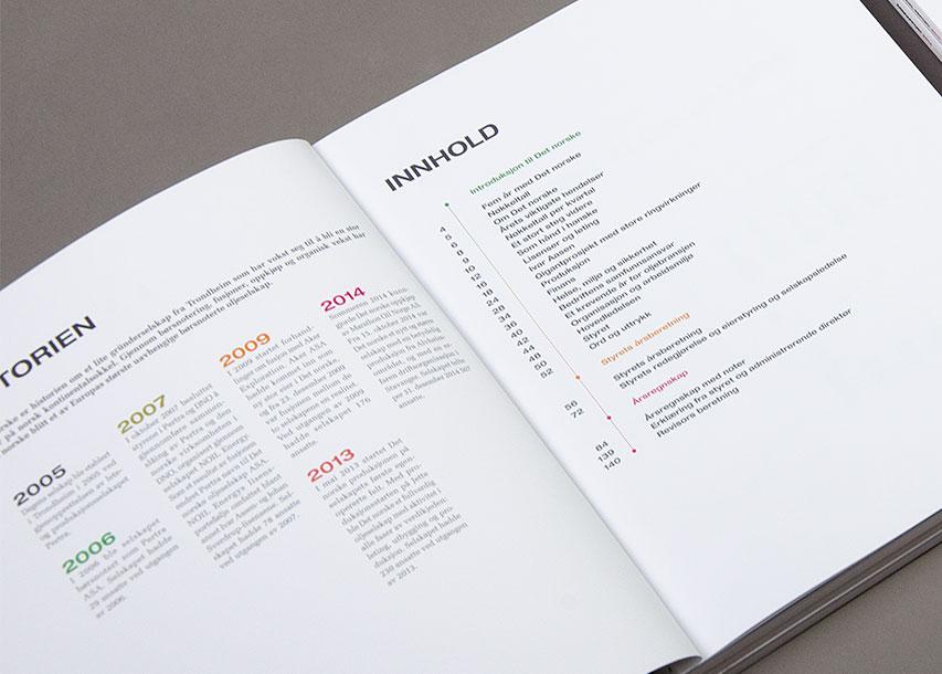 Det norske årsrapport 2014 — innholdfortegnelse