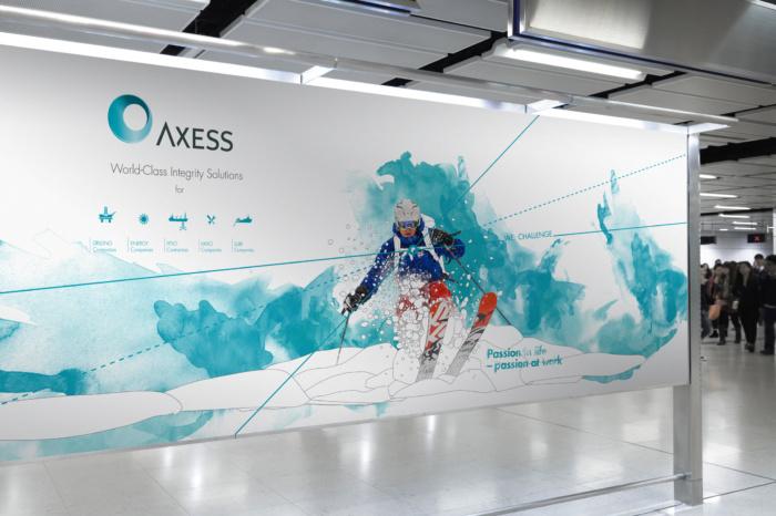 Axess gikk for fargerik grafisk profil i en ellers konservativ bransje