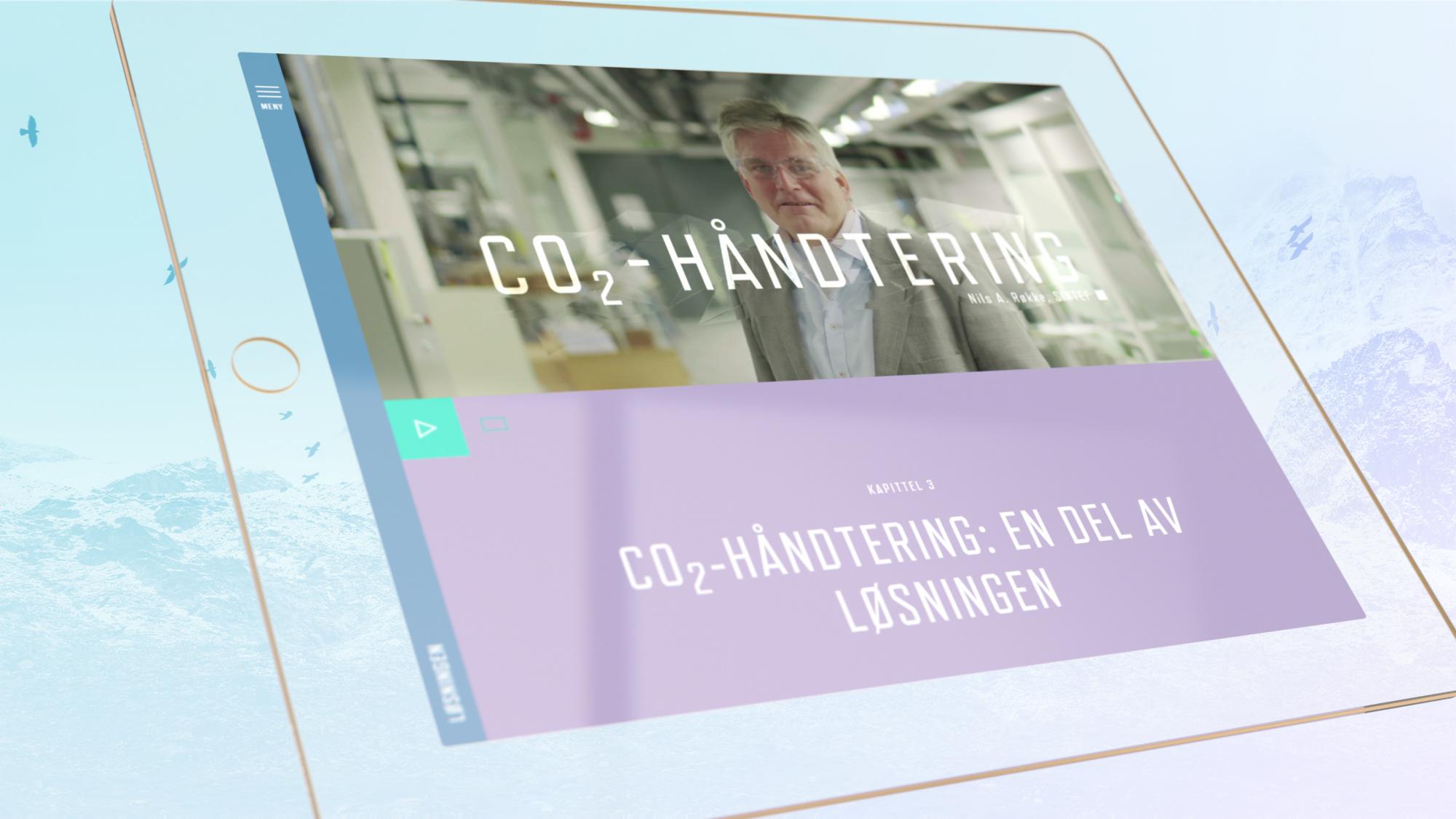 Kampanjenettstedet vist på tablet