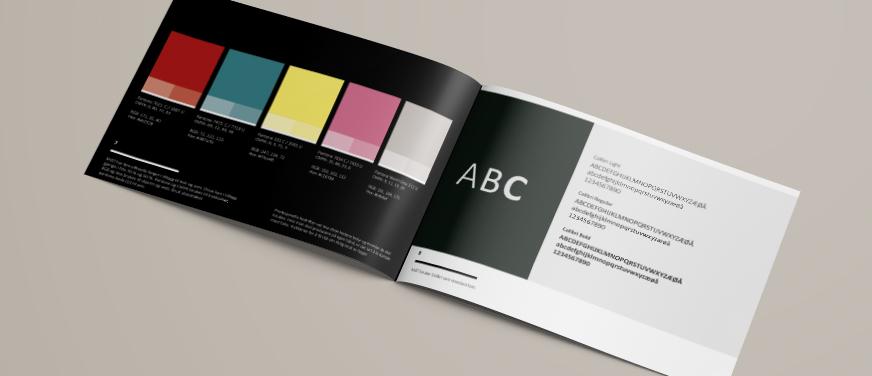 Profilmanual Mist farger og typografi